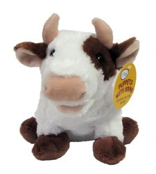 RBI Toys Maggie the Mooing Cow Puppet with Sound - Brown/White