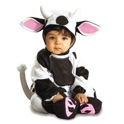 Rubies Costume Co. EZ-On Romper Costume, Cozy Cow, 6 to 12 Months