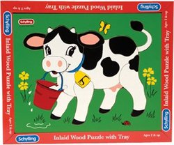 Schylling Wood Puzzle Cow [Toy] [Toy]